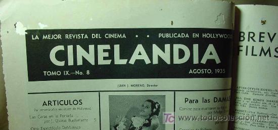 Cine: REVISTA CINELANDIA, AGOSTO 1935, CLARK GABLE, ESTRENOS, PUBLICIDADES DE LA EPOCA, KELLOGGS - Foto 2 - 19560495