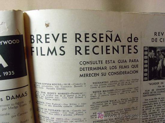 Cine: REVISTA CINELANDIA, AGOSTO 1935, CLARK GABLE, ESTRENOS, PUBLICIDADES DE LA EPOCA, KELLOGGS - Foto 3 - 19560495