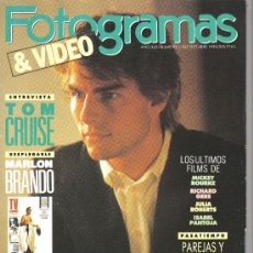 Cine: MAGAZINE FOTOGRAMAS & VIDEO (TOM CRUISE) 1990 Nº1767 SPAIN. Lote 19557206