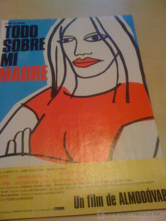 'TODO SOBRE MI MADRE', DE PEDRO ALMODÓVAR. PÁGINA DE PRENSA. (Cine - Reproducciones de carteles, folletos...)
