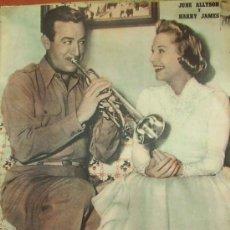 Cine: JUNE ALLYSON Y HARRY JAMES PRIMER PLANO SPANISH MAGAZINE 1956 Nº831 SPAIN. Lote 19788308