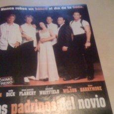 Cine: 'LOS PADRINOS DEL NOVIO', CON DREW BARRYMORE. PÁGINA DE PRENSA.. Lote 26343075