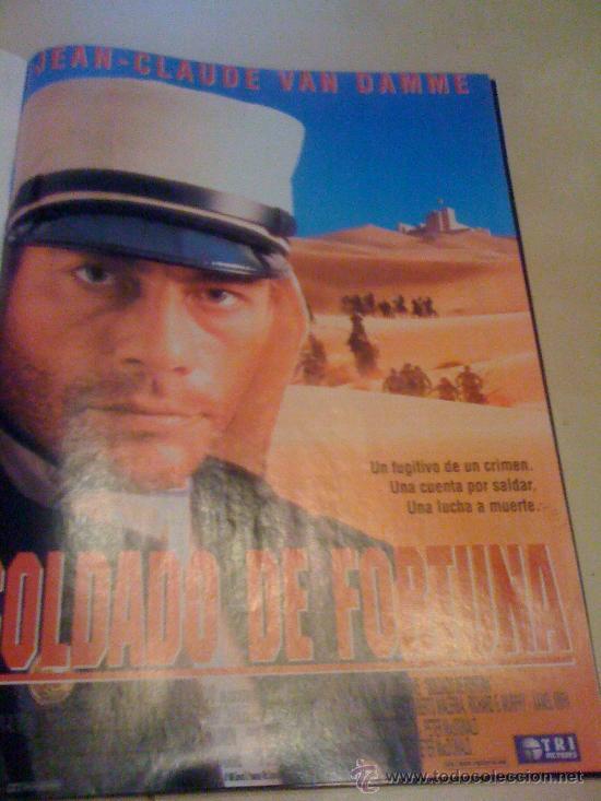 'SOLDADO DE FORTUNA', CON JEAN-CLAUDE VAN DAMME. PÁGINA DE PRENSA. (Cine - Reproducciones de carteles, folletos...)