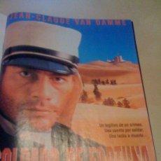 Cine: 'SOLDADO DE FORTUNA', CON JEAN-CLAUDE VAN DAMME. PÁGINA DE PRENSA.. Lote 19794308
