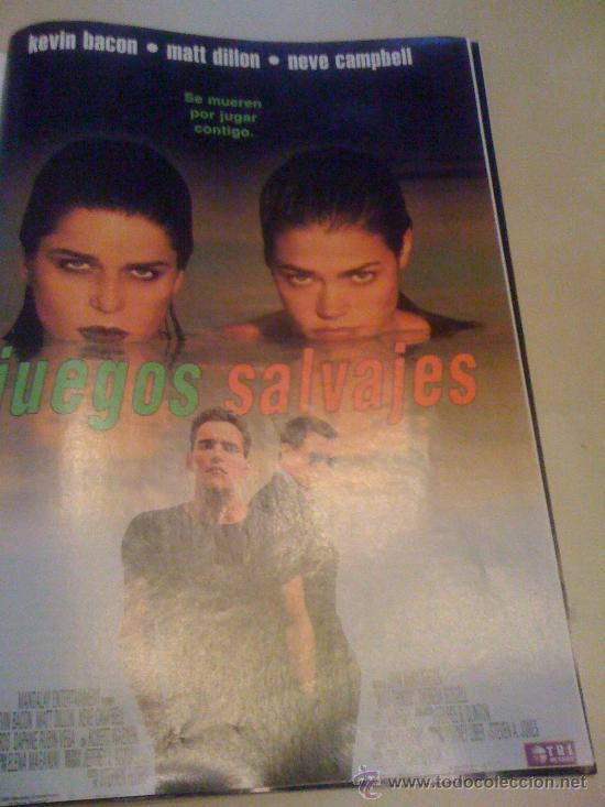 'JUEGOS SALVAJES', CON KEVIN BACON. PÁGINA DE PRENSA. (Cine - Reproducciones de carteles, folletos...)