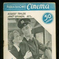 Cine: PUBLICACIONES CINEMA. UNA CHICA DE PROVINCIAS. Nº 13. ROBERT TAYLOR. JANET GAYNOR.. Lote 19802086