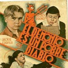 Cine: NOVELA EL DEMONIO ES UN POBRE DIABLO CON JACKIE COOPER Y MICKEY ROONEY. Lote 19973874