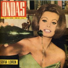 Cine: ONDAS Nº243 (1963) (RADIO) SOFIA LOREN, CABALGATA REYES RADIO MADRID, FAMILIA CHAPLIN,. Lote 19979743