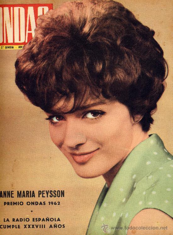 ONDAS Nº239 (1962) (RADIO) MARIA PEYSSON, ROSARIO Y ANTONIO, ,JAYNE MANSFIELD, PREMIOS ONDAS, (Cine - Revistas - Ondas)