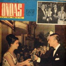 Cine: ONDAS Nº240 (1962) (RADIO) BRANDO Y TARITA, ALBERTO DE MONACO, GALA ONDAS 1962, PECKER,. Lote 19998640