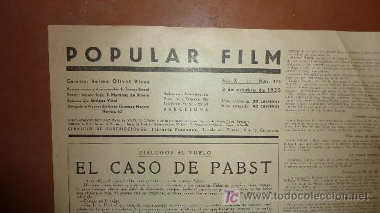 Cine: Revista cinematografica Popular film. De cine, num 476, 3 octubre 1935. Antigua de la Republica. - Foto 3 - 22085292