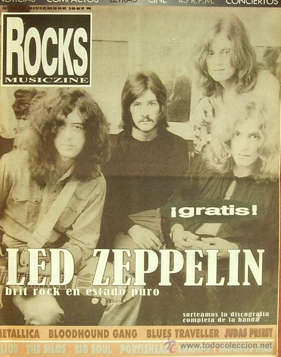 MAGAZINE ROCKS MUSICZINE (LED ZEPPELIN) 1997 SPAIN (Cine - Revistas - Otros)