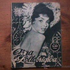 Cine: GINA LOLLOBRIGIDA, COLECCION IDOLOS DEL CINE Nº 6, 1958. Lote 20657000