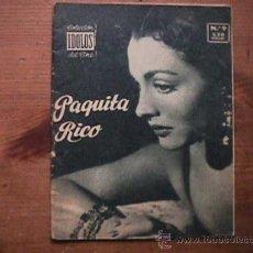 Cine: PAQUITA RICO, COLECCION IDOLOS DEL CINE Nº 9, 1958. Lote 20657009