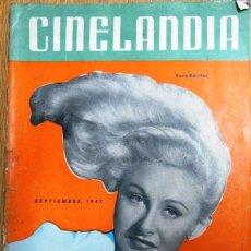 Cine: CINELANDIA SETIEMBRE 1947 - FOTO EN TAPA VERA RALSTON - JAMES STEWART - HENRY FONDA - DIANA LYNN. Lote 154277256