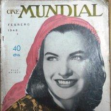 Cine: CINE MUNDIAL FEBRERO 1948 - FOTO EN TAPA: ELLA RAINES - BING CROSBY Y BOB HOPE - . Lote 154277220