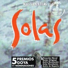 Cine: CARTEL DE LA PELICULA SOLAS 34 X 23 CM. Lote 20841841