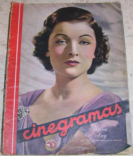 CINEGRAMAS. MYRNA LOY. REVISTA SOBRE CINE ESPAÑOL Y EXTRANJERO (Cine - Revistas - Cinegramas)