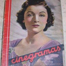 Cine: CINEGRAMAS. MYRNA LOY. REVISTA SOBRE CINE ESPAÑOL Y EXTRANJERO. Lote 24299757
