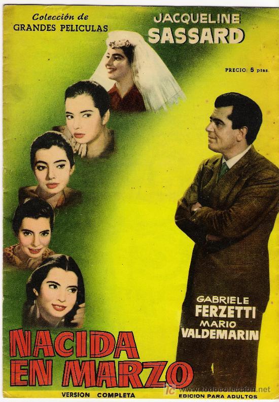 REVISTA COLECCION DE GRANDES PELICULAS NACIDA EN MARZO , AÑO 1959 CON MUCHAS FOTOS (Cine - Revistas - Colección grandes películas)