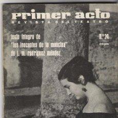 Cine: PRIMER ACTO REVISTA DEL TEATRO Nº 24 AÑO 1961 PORTADA , NURIA ESPERT. Lote 25217677