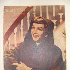 Cine: REVISTA - PRIMER PLANO Nº 397, 23 MAYO 1948, EN PORTADA CLAUDETTE COLBERT. Lote 26334195