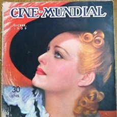 Cine: CINE MUNDIAL DICIEMBRE 1939 - MADELEINE CARROLL EN TAPA - JOYA DE COLECCION. Lote 154277156