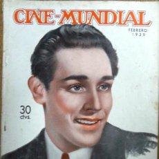 Cine: CINE MUNDIAL FEBRERO 1939 - TITO GUIZAR EN TAPA (PARAMOUNT) - JOYA DE COLECCION. Lote 154277081