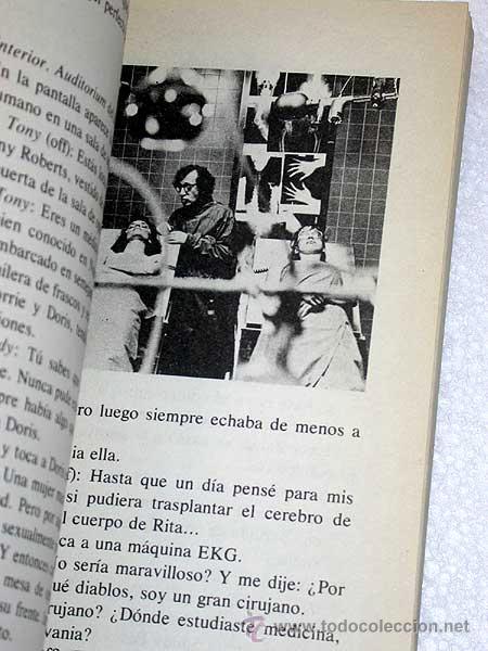 Cine: GUIÓN DE STARDUST MEMORIES (RECUERDOS) WOODY ALLEN. TUSQUETS 1981. CUADERNOS INFIMOS 101. - Foto 3 - 26817890