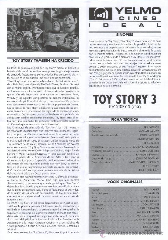 Cine: REVISTA CINERAMA TOY STORY 3 Y RESEÑA DE CINE - Foto 2 - 26300821