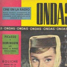 Cine: ONDAS REVISTA 15 DE MARZO DE 1960. Lote 27347898