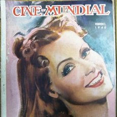 Cinema: CINE MUNDIAL - FEBRERO DE 1940 - GRETA GARBO EN TAPA - CON FALTANTES. Lote 155114162