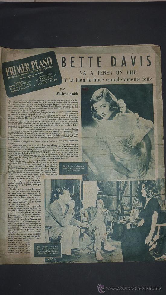 REVISTA ANTIGUA DE CINE: PRIMER PLANO DE 1947. (Cine - Revistas - Primer plano)