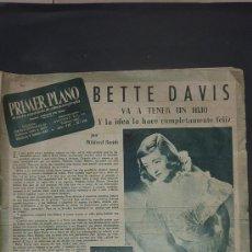 Cine: REVISTA ANTIGUA DE CINE: PRIMER PLANO DE 1947. . Lote 24285872