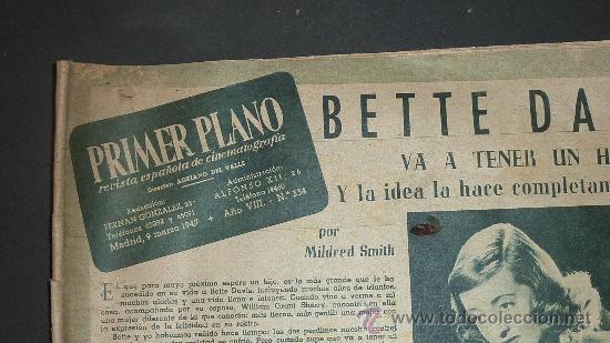 Cine: Revista antigua de cine: Primer Plano de 1947. - Foto 2 - 24285872