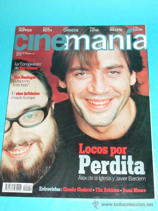 CINEMANIA Nº 26 NOVIEMBRE 1997 - JAVIER BARDEM Y ALEX DE LA IGLESIA (Cine - Revistas - Cinemanía)