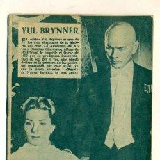 Cine: YUL BRINNER - INGRID BERGMAN - MINI REVISTA CON BIOGRAFIA Y MUCHAS FOTOS DEL ACTOR. Lote 25859172