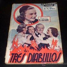 Cine: TRES DIABLILLOS - DIANA DURBIN - PUBLICACIONES CINEMA. Lote 27591059