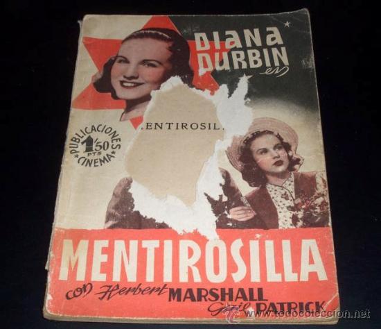 MENTIROSILLA - DIANA DURBIN - PUBLICACIONES CINEMA (Cine - Revistas - Cinema)