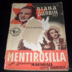 Cine: MENTIROSILLA - DIANA DURBIN - PUBLICACIONES CINEMA. Lote 26613990