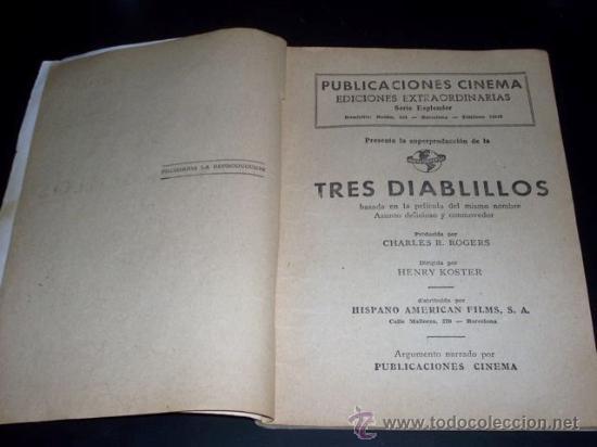 Cine: TRES DIABLILLOS - DIANA DURBIN - PUBLICACIONES CINEMA - Foto 3 - 27591059