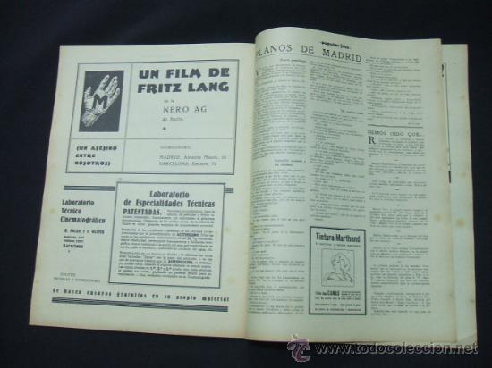 Cine: POPULAR FILM - AÑO VI - Nº 262 - 20 AGOSTO 1931 - PORTADA, ROSITA DIAZ - - Foto 5 - 22952956