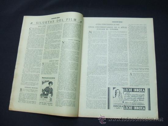 Cine: POPULAR FILM - AÑO VI - Nº 259 - 30 JULIO 1931 - PORTADA, CONCHITA MONTENEGRO - - Foto 3 - 22953075