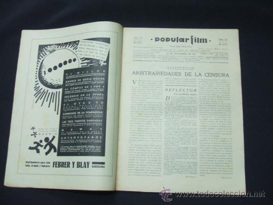 Cine: POPULAR FILM - AÑO VI - Nº 276 - 26 NOVIEMBRE 1931 - PORTADA, LORETTA YOUNG Y OTIS SKINER - - Foto 2 - 22953088