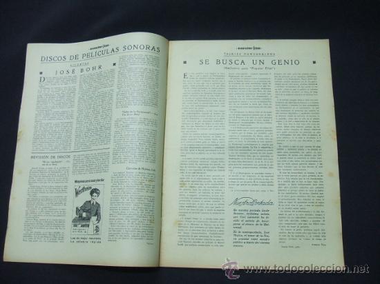Cine: POPULAR FILM - AÑO VI - Nº 261 - 13 AGOSTO 1931 - PORTADA, LUCILE BROWNE - - Foto 2 - 22953108