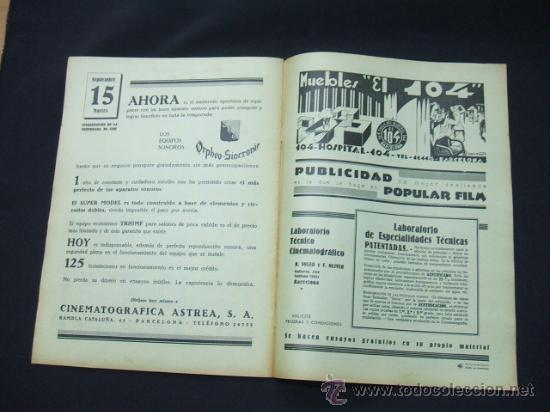Cine: POPULAR FILM - AÑO VI - Nº 261 - 13 AGOSTO 1931 - PORTADA, LUCILE BROWNE - - Foto 6 - 22953108