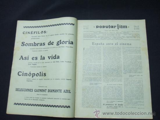 Cine: POPULAR FILM - AÑO V - Nº 224 - 13 NOVIEMBRE 1930 - PORTADA, JANET GAYNOR Y CHARLES FARRELL - - Foto 2 - 22953167