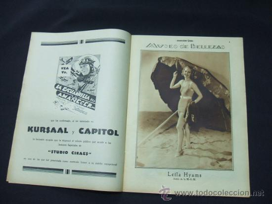Cine: POPULAR FILM - AÑO VI - Nº 246 - 30 ABRIL 1931 - PORTADA, ANITA PAGE - - Foto 3 - 22953212