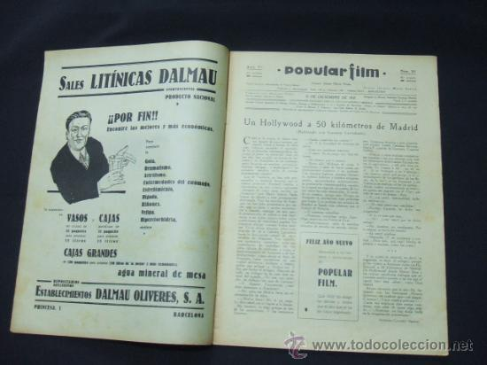 Cine: POPULAR FILM - AÑO VI - NUMERO 281 - 31 DICIEMBRE 1931 - PORTADA, BARRY NORTON Y LUANA ALCAÑIZ - Foto 2 - 22953269