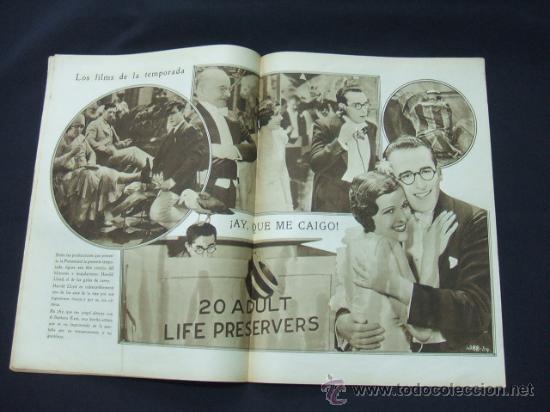 Cine: POPULAR FILM - AÑO VI - NUMERO 281 - 31 DICIEMBRE 1931 - PORTADA, BARRY NORTON Y LUANA ALCAÑIZ - Foto 4 - 22953269